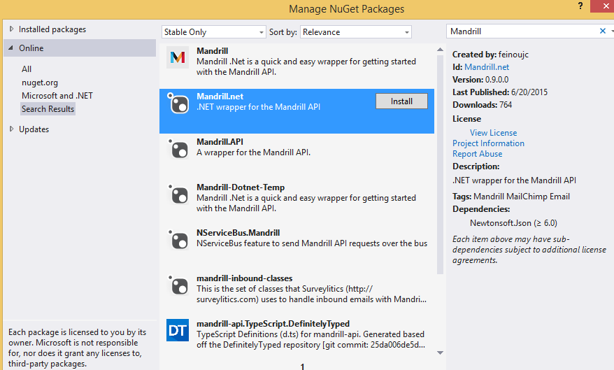manage-nuget-packages