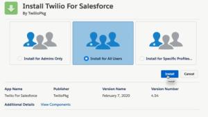 install-twilio-salesforce